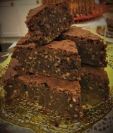 Chocolate, Roasted Hazelnut and Buckwheat Brownies